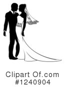 Wedding Couple Clipart #1240904 by AtStockIllustration