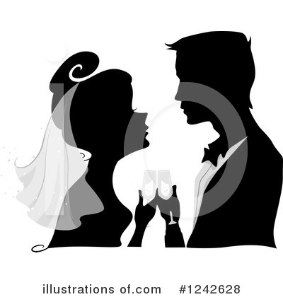 Royalty-Free (RF) Wedding Couple Clipart Illustration by BNP Design Studio - Stock Sample #1242628