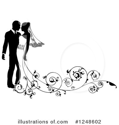 wedding couple clipart 1248602 illustration by atstockillustration rh illustrationsof com wedding couple clipart black and white wedding couple clipart free