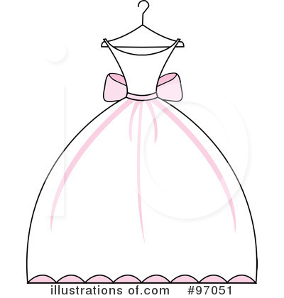 Wedding Dress Clipart #97051 - Illustration by Pams Clipart