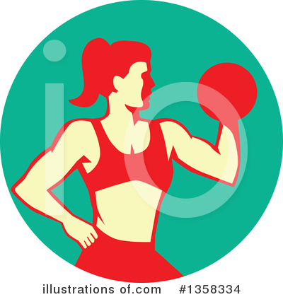 Bodybuilder Clipart #1358334 by patrimonio