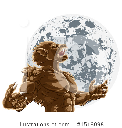 Royalty-Free (RF) Werewolf Clipart Illustration by AtStockIllustration - Stock Sample #1516098