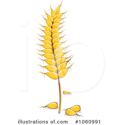 Wheat Clipart #1060991 - Illustration by Vector Tradition SM