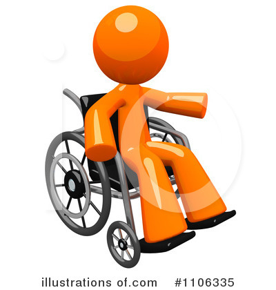 Wheelchair Clipart #1106335 - Illustration by Leo Blanchette
