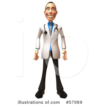 White Male Doctor Clipart #57069 by Julos