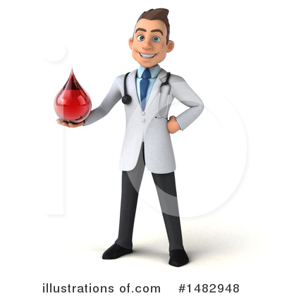 White Male Doctor Clipart #1482948 by Julos