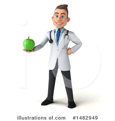 White Male Doctor Clipart #1482949 by Julos