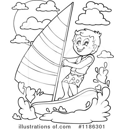 Royalty Free RF Windsurfing Clipart Illustration 1186301 By Visekart