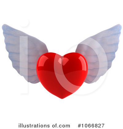 Winged Heart Clipart #1066827 by Julos