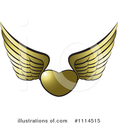 Winged Heart Clipart #1114515 by Lal Perera
