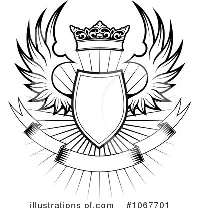Winged Shield Clipart #1067701 - Illustration by Vector ...