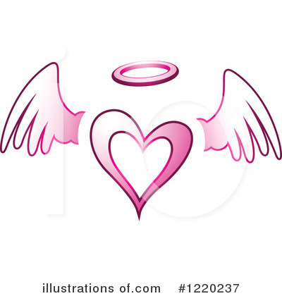 Winged Heart Clipart #1220237 by cidepix