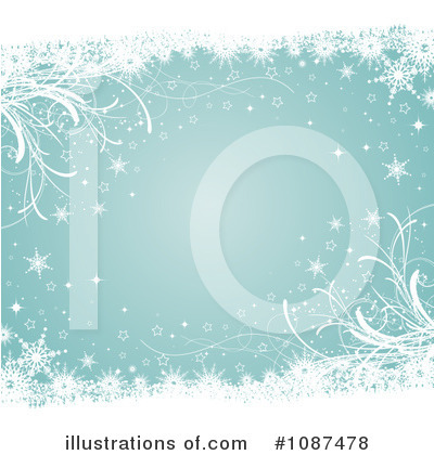 Snowflake Background Clipart #1087478 by KJ Pargeter