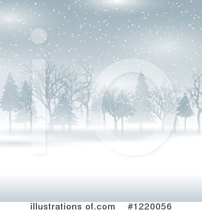 Winter Landscape Clipart #1220056 by KJ Pargeter