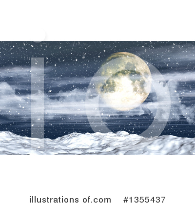 Winter Landscape Clipart #1355437 by KJ Pargeter