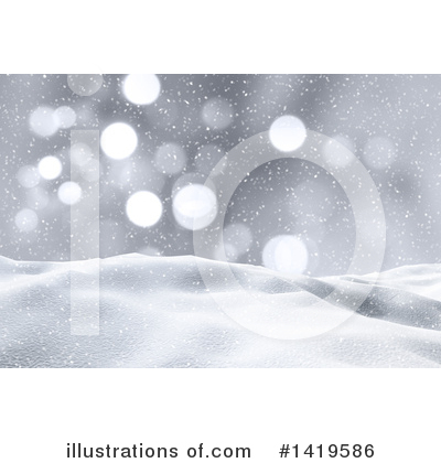 Winter Landscape Clipart #1419586 by KJ Pargeter