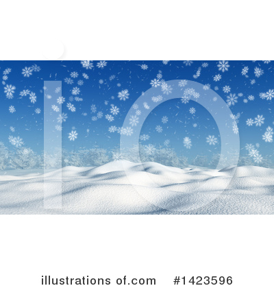 Winter Landscape Clipart #1423596 by KJ Pargeter