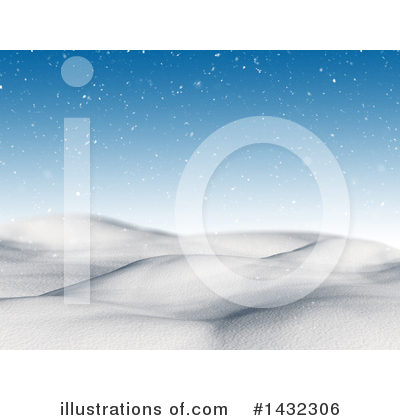 Winter Landscape Clipart #1432306 by KJ Pargeter