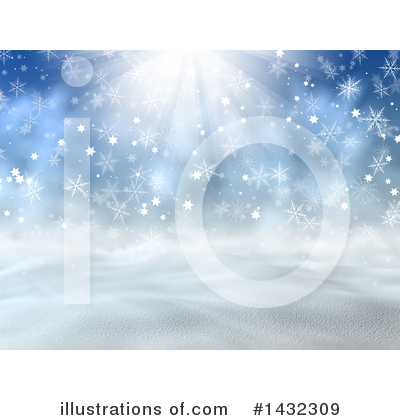 Winter Landscape Clipart #1432309 by KJ Pargeter