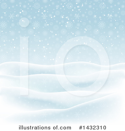 Winter Landscape Clipart #1432310 by KJ Pargeter