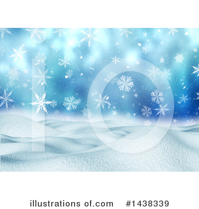 Winter Landscape Clipart #1438339 by KJ Pargeter