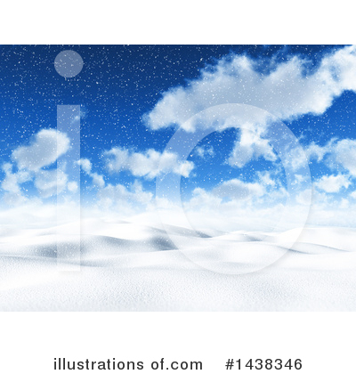 Winter Landscape Clipart #1438346 by KJ Pargeter