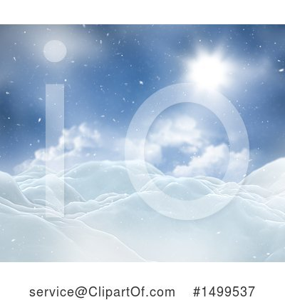 Winter Landscape Clipart #1499537 by KJ Pargeter