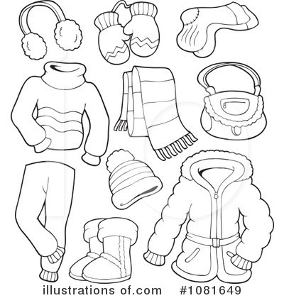 winter clothes clipart 1081649 illustration by visekart clip art shoes clip art shoes images