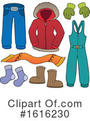 Winter Clothes Clipart #1616230 by visekart