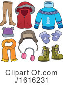 Winter Clothes Clipart #1616231 by visekart