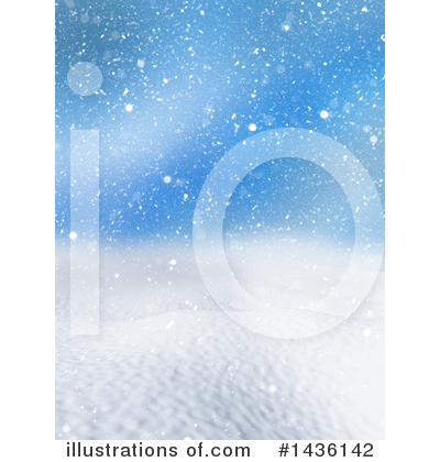 Royalty-Free (RF) Winter Landscape Clipart Illustration by KJ Pargeter - Stock Sample #1436142