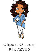 Woman Clipart #1372906 by Clip Art Mascots