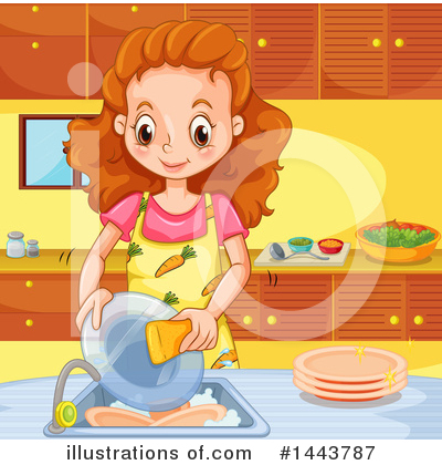 Washing Dishes Clipart #1443787 by Graphics RF