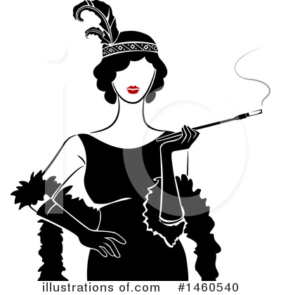 Flapper Clipart #1460540 by BNP Design Studio
