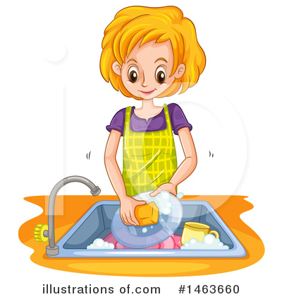 Washing Dishes Clipart #1463660 by Graphics RF