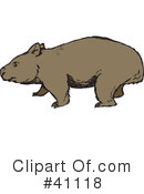 Wombat Clipart #1110584 - Illustration by Dennis Holmes Designs