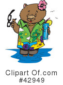 Wombat Clipart #42949 by Dennis Holmes Designs