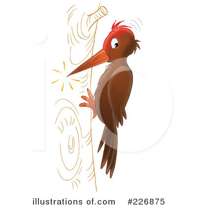 woodpecker clipart 226875 illustration by alex bannykh rh illustrationsof com pileated woodpecker clipart cute woodpecker clipart