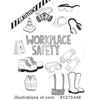 Work Safety Clipart #1275448 - Illustration by David Rey