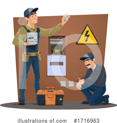 Electrician Clipart #1716963 by Vector Tradition SM