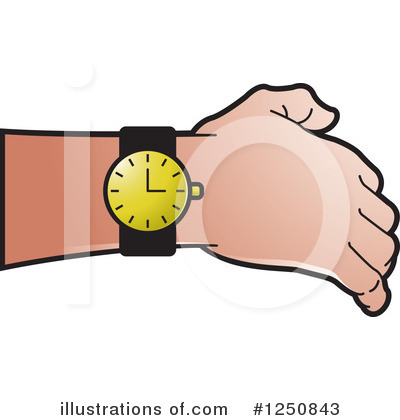 Wrist Watch Clipart #1250843 - Illustration by Lal Perera