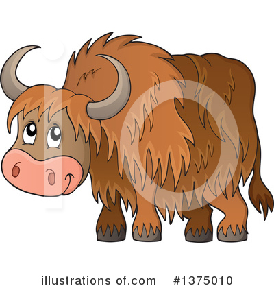 Yak Clipart #434187 - Illustration by toonaday