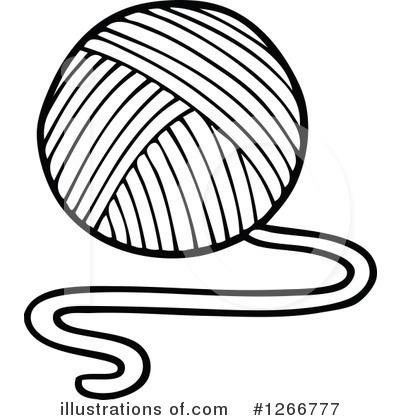 yarn clipart 1266777 illustration by visekart rh illustrationsof com yarn border clip art yarn border clip art