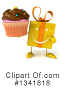 Yellow Gift Character Clipart #1341818 by Julos