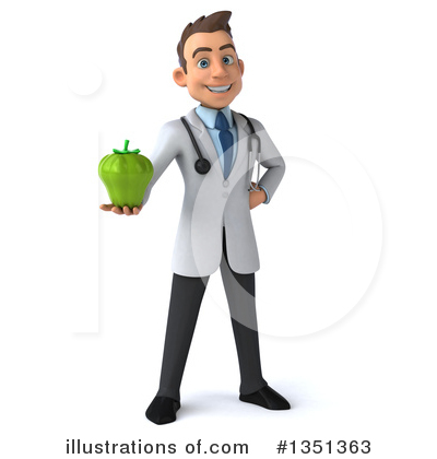 White Male Doctor Clipart #1351363 by Julos