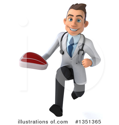 White Male Doctor Clipart #1351365 by Julos