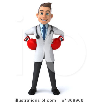 White Male Doctor Clipart #1369966 by Julos
