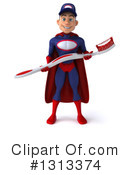 Young White Male Super Hero Mechanic Clipart #1313374 by Julos